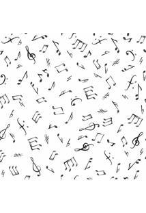 Papel De Parede Adesivo Notas Musicais