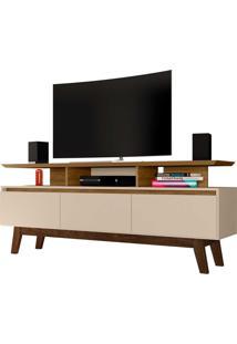 Rack Rubi Tv De Até 65 Polegadas Cinamomo/Off-White Móveis Bechara