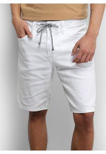 Bermuda Sarja Colcci Davi Masculina - Masculino-Branco