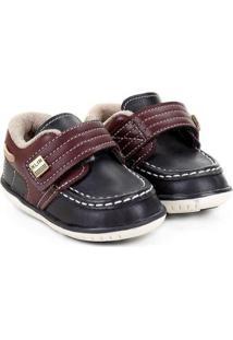 Sapato Infantil Klin Masculino - Masculino-Preto+Vermelho