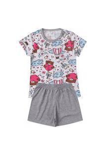 Pijama Infantil Balões Ursos Mescla/Branco 924 - Kappes