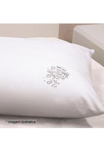 Capa Para Travesseiro Impermeável- Branca- 70X50Cm