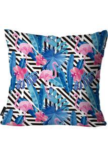 Capa Para Almofada Mdecore Flamingos Colorido 35X35