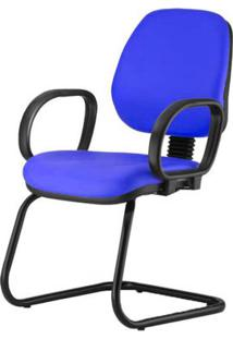 Cadeira Corporate Executiva Cor Azul Com Base Skim - 43984 - Sun House