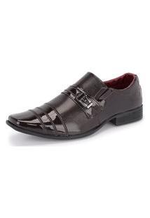 Sapato Social Masculino 833 Verniz Marrom