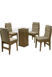 Conjunto De Mesa & Cadeiras Amsterdam Para 4 Lugares- Medobuê