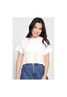Camiseta Cropped Roxy Perfect Branca
