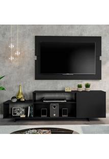 Rack Com Painel Para Tv Até 45 Polegadas Siena City Preto 180 Cm