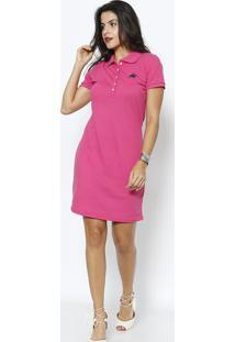 Vestido Em Piquê - Pinkclub Polo Collection