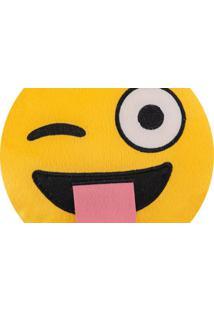 Almofada Capital Do Enxoval Emoji Travesso Estampado