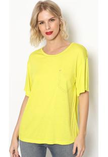 Camiseta Com Pespontos- Amarela- Forumforum