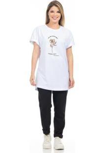 Camiseta Clara Arruda Flor Feminina - Feminino