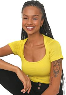 Camiseta Colcci Lisa Amarela