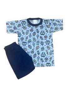 Pijama Infantil Malha Fria Kidsline Robôs