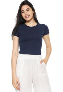 Camiseta Malwee Básica Azul-Marinho