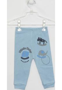 Calça Bebê Masculina Suedine Azul Claro-G - Masculino-Azul Claro