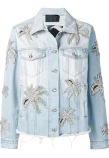 Philipp Plein Jaqueta Jeans 'Aloha Plein' - Azul