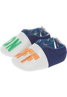 Sapato Pimpolho On Off Infantil Bege/Azul