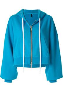 Unravel Project Hooded Bomber Jacket - Azul