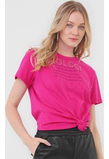 Camiseta Colcci Lettering Rosa - Rosa - Feminino - Algodã£O - Dafiti