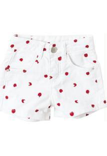Shorts Branco Comfort Estampado