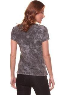 Camiseta Side Walk Árabe Flores Feminina - Feminino