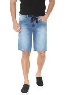 Bermuda Jeans Timberland Reta Stoned Azul