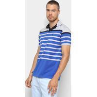 5af6c7630b Camisa Polo Aleatory Estampa Listrada Masculina - Masculino-Azul+Cinza