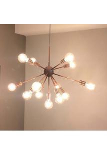 Lustre Pendente Moderno Sputnik Cobre - 13 Lã¢Mpadas (Nã£O Inclusas) - Cobre - Dafiti