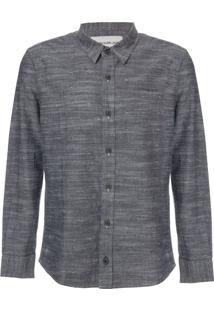 Camisa Ml Ckj Maquinetado Com Silk - Marinho - 8