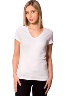 Camiseta Básica 4Me Gola V Branco