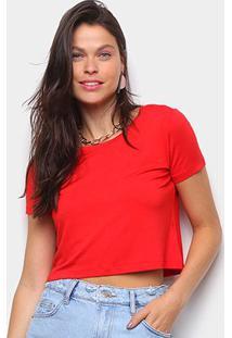 Camiseta Volare Cropped Básica Feminina - Feminino