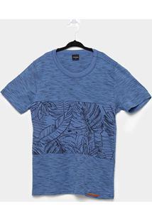Camiseta Infantil Rovitex Folhagens - Masculino-Azul