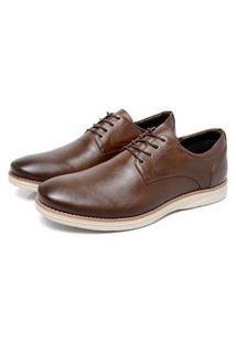 Sapato Masculino Café Em Couro 9000