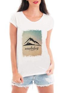 Camiseta Criativa Urbana Wanderlust Viagem - Feminino