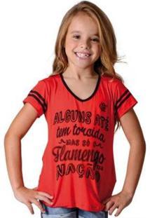 Camisa Flamengo Infantil Nation Braziline - Feminino