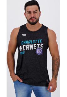 Regata Nba Charlotte Hornets Especial Inox Preta Mescla