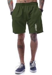Bermuda Tactel Ukkan Vertical Line - Masculino-Verde Militar