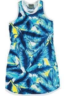 Vestido Curto Azul Malwee Liberta