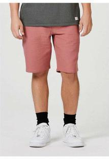 Bermuda Chino Masculina Bolso Faca Rosa