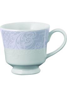 Xícara Café C/ Pires Porcelana Schmidt - Dec. Arabesco