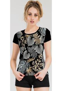 Camiseta Stompy Feminina Estampada 19 - Feminino-Preto