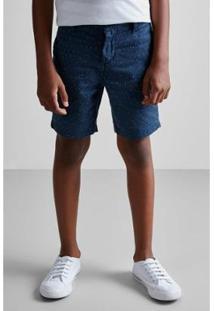 Bermuda Masculina Infantil Mini Pf Pois Diferenciados Ver19 Reserva Mini - Masculino-Marinho