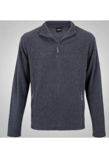 Blusa De Frio Fleece Nord Outdoor Basic - Masculina - Cinza Escuro
