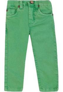 Calça Infantil Sarja 1Mais1 Masculina - Masculino-Verde