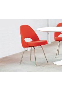 Cadeira Saarinen Executive (Sem Braços) Couro Branco