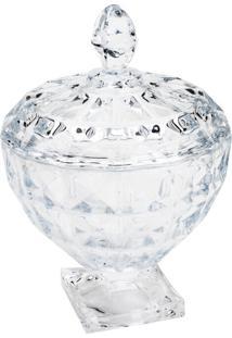 Bomboniere De Cristal Rojemac Com Pé E Tampa Diamant Incolor