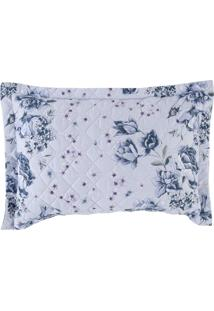 Porta Travesseiro Altenburg Home Collection 180 Fios 50Cm X 70Cm Nostalgie Azul
