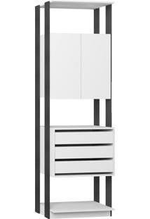 Estante Armário/Gaveteiro Branco Tx/Expresso Be Mobiliário