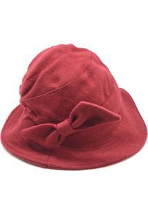 Chapéu Vermelho De Lã Batida